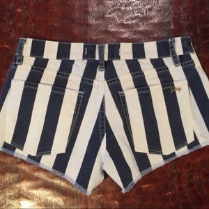 Juicy Couture Shorts - Juicy Couture Striped Denim Shorts